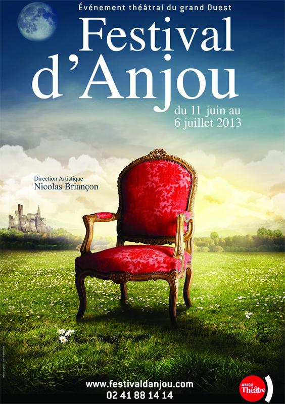 Affiche de la 64ème édition du festival d'Anjou