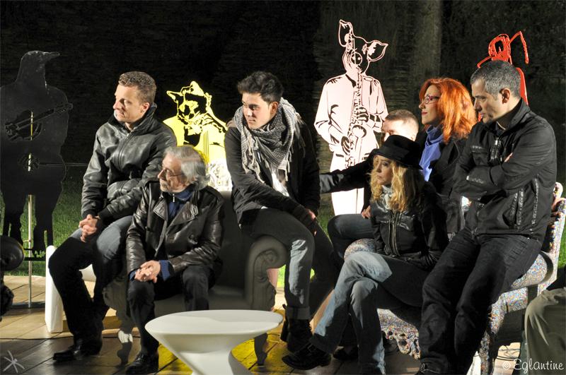 Rencontre avec le public à l'issue de la représentation du lundi 24 juin 2013, au théâtre de verdure du château du Plessis-Macé.