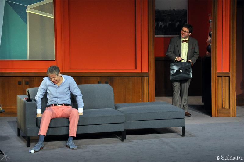 José Paul et Patrick Haudecoeur, dans les rôles principaux de cette pièce