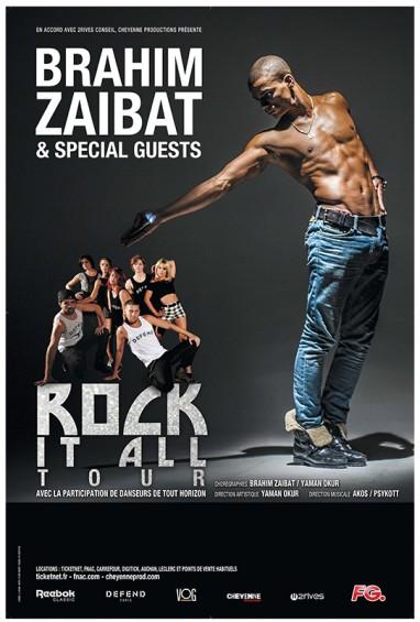 Brahim Zaibat et son spectacle Rock it all tour