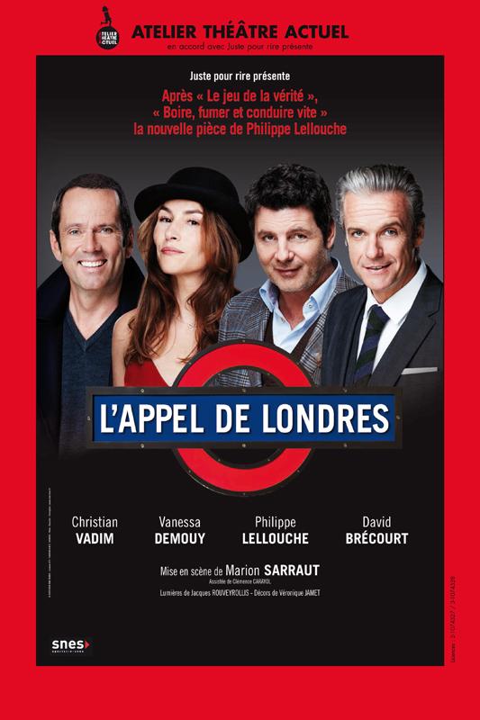 Affiche tournée de la pièce L'appel de Londres, écrite par Philippe Lellouche