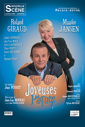 La pièce Joyeuses Pâques de Jean Poiret sera jouée au Centre de congrès, samedi 7 mars 2015