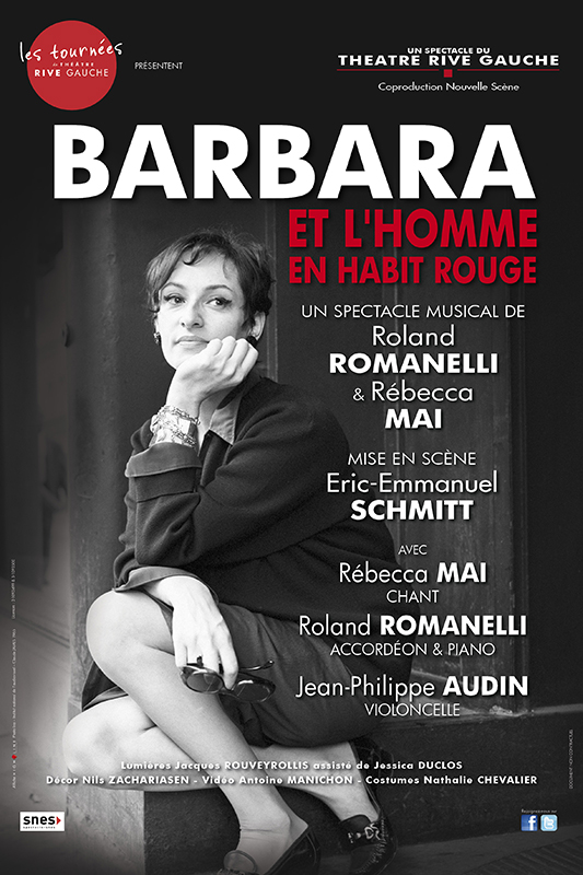 Affiche spectacle musical sur Barbara
