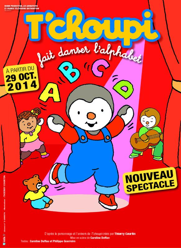 Affiche T'choupi fait danser l'alphabet