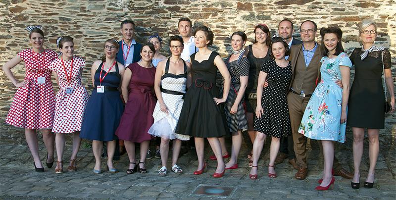 Une partie de l'équipe du festival d'Anjou 2017