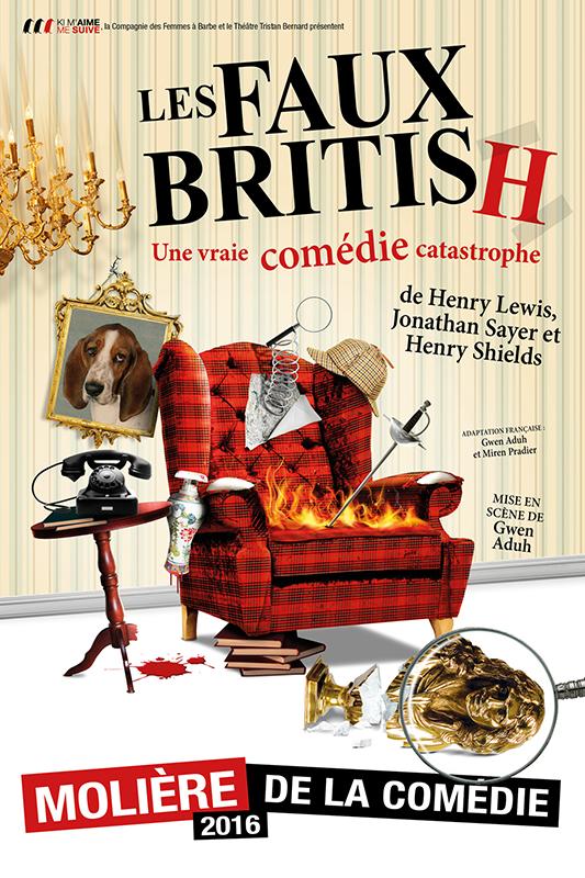 """Affiche pièce """"Les faux British"""""""