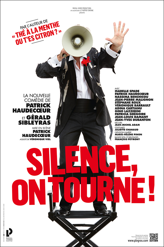 "Affiche pièce ""Silence on tourne !"""
