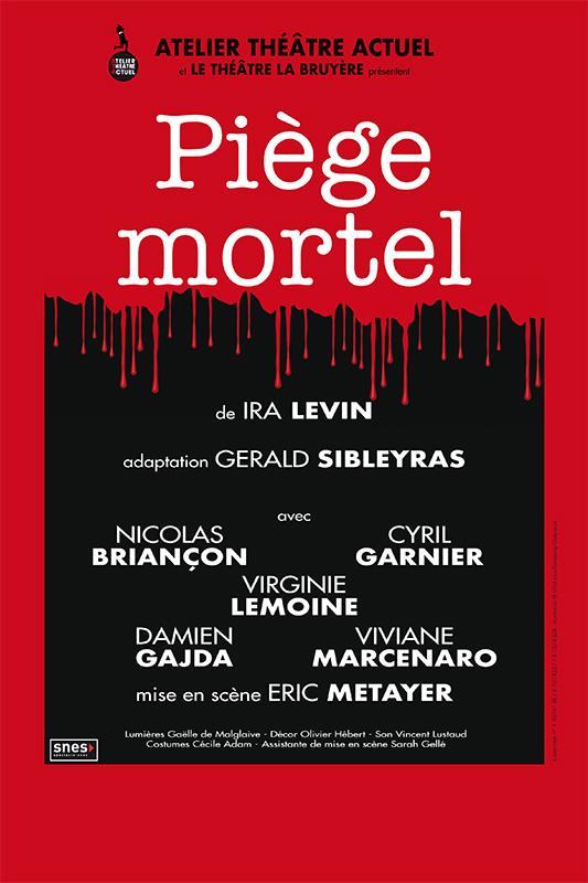 "Affiche pièce ""Piège mortel"""
