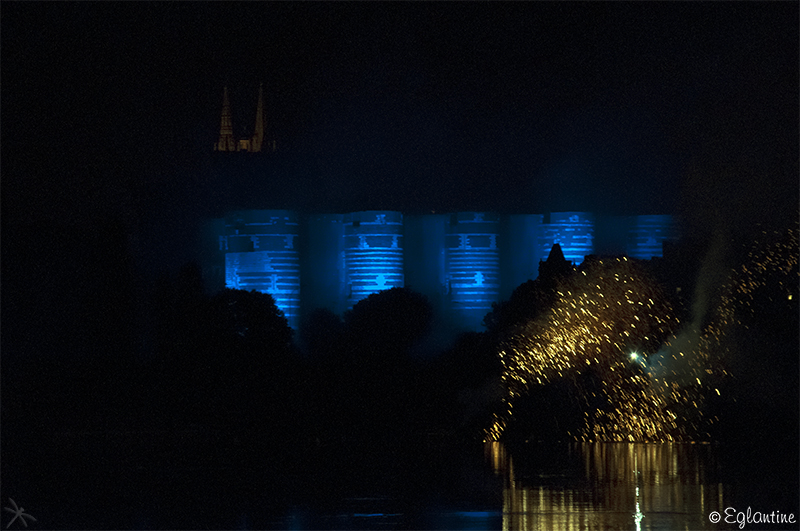 Feu d'artifice Angers-13 juillet 2014